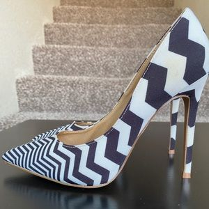 Amazing zebra striped heels
